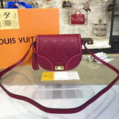 Louis Vuitton M43143 Junot Monogram Empreinte Leather Magenta
