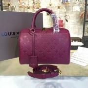 Louis Vuitton M43262 Speedy Bandoulière 25 Monogram Empreinte Leather Raisin