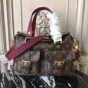 Louis Vuitton M43482 Manhattan Monogram Handbag Raisin