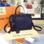 Louis Vuitton M43501 Speedy Bandoulière 25 Monogram Empreinte Leather MARINE ROUGE
