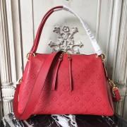 Louis Vuitton M43720 Ponthieu PM Monogram Empreinte Leather Cerise