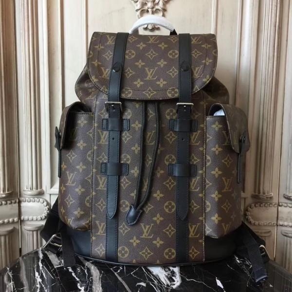 cf3ffe38821 Louis Vuitton M43735 Christopher PM Backpack Monogram Macassar