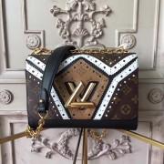 Louis Vuitton M44214 Twist MM Monogram Reverse Canvas