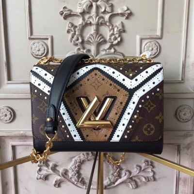 Louis Vuitton M44214 Twist MM Monogram Reverse Canvas
