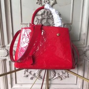 Louis Vuitton M50170 Montaigne BB Monogram Vernis Leather Cherry