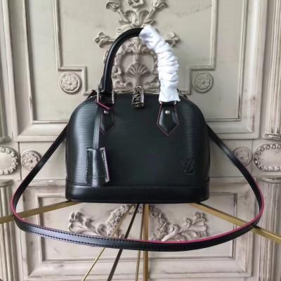 Louis Vuitton M54160 Alma BB Epi Leather Noir Rose