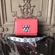 Louis Vuitton M54728 Twist PM Monogram Vernis Leather Rose poudre