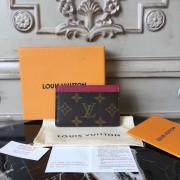 Louis Vuitton M60703 Card Holder Monogram Fuchsia