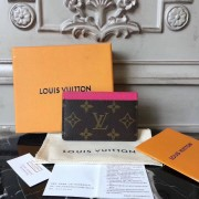 Louis Vuitton M60709 Card Holder Monogram Canvas  Hotpink