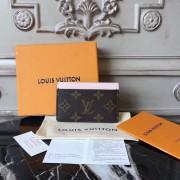 Louis Vuitton M60709 Card Holder Monogram Canvas  Rose Ballerine