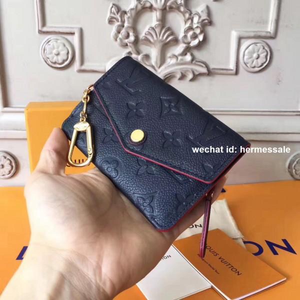 e07ac56030ef Louis Vuitton M62017 Key Pouch in Monogram Empreinte leather MARINE ROUGE