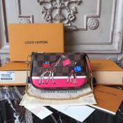 Louis Vuitton M62087 Mini Pochette Accessoires in Damier Ebene