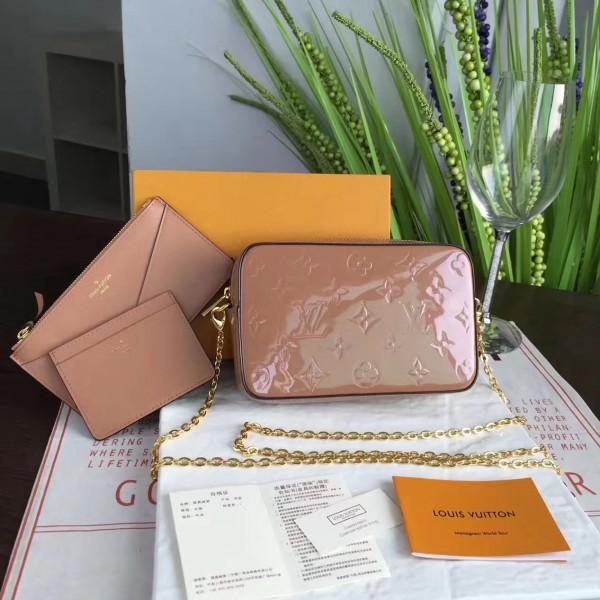 8f0b33ab7b3e Louis Vuitton M64058 CAMERA POUCH Monogram Vernis Leather