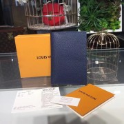 Louis Vuitton M64504 Passport Cover Taiga Leather Ocean