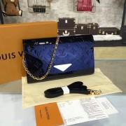 Louis Vuitton M90990 Mira Monogram Vernis Leather  Navy