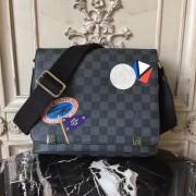 Louis Vuitton N41054 District PM Damier Graphite Canvas