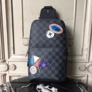 Louis Vuitton N41056 Avenue Sling Bag Damier Graphite Canvas