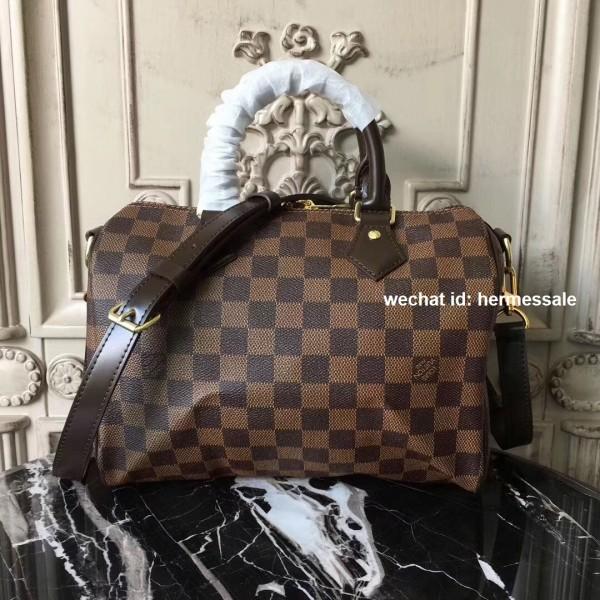 4b00bbe8e10c Louis Vuitton N41368 Speedy Bandoulière 25 Damier Ebene Canvas