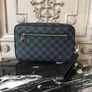 Louis Vuitton N41664 Kasai Clutch Damier Graphite Canvas