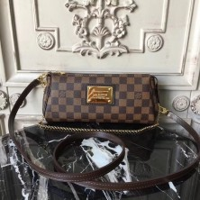 Louis Vuitton N55213 Damier Ebene Eva Chain Bag