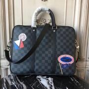 Louis Vuitton damier-graphite-lv-league-porte-documents-voyage-pm-bag