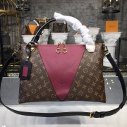 Louis Vuitton M43949 V Tote MM Monogram Canvas -Bordeaux