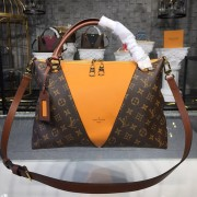 Louis Vuitton M43951 V Tote MM Monogram Canvas -Safran