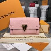 Louis Vuitton M63399 Vavin chain wallet Monogram Empreinte Leather - Rose Poudre