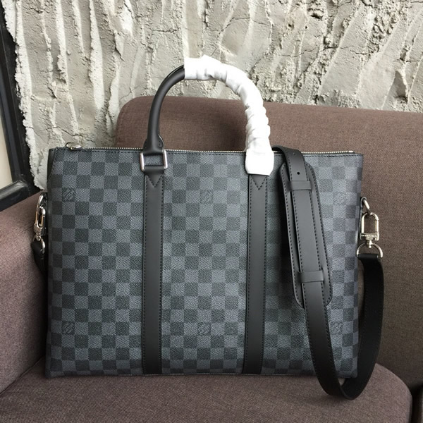 3cf1eb2826 Louis Vuitton N40024 Anton Briefcase Damier Graphite Canvas