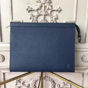 Louis Vuitton M30675 Pochette Voyage MM Taiga Leather Navy