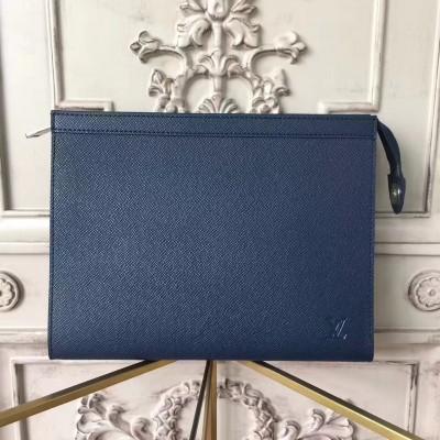 Louis Vuitton M30675 Pochette Voyage MM Taiga Leather Navy