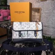 Louis Vuitton M54254 Monogram Savane Canvas Messenger PM Bag White