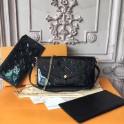 Louis Vuitton M61267 Pochette Félicie Monogram Vernis Leather Black