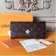 Louis Vuitton M62941 Monogram Canvas Emilie Wallet Rouge