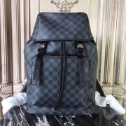 Louis Vuitton N40005 Zack Backpack Damier Graphite Canvas
