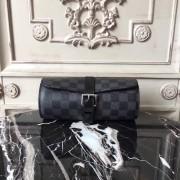 Louis Vuitton N41137 3 Watch Case Damier Graphite Canvas