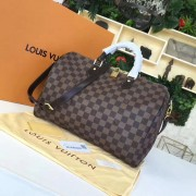 Louis Vuitton N41366 Speedy Bandoulière 35 Damier Ebene Canvas