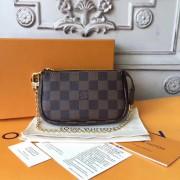 Louis Vuitton N58009 Mini Pochette Accessoires Damier Ebene