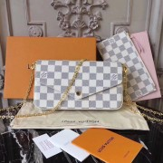 Louis Vuitton N63106 Pochette Felicie Damier Azur Canvas