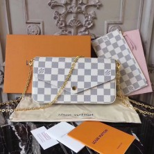 Louis Vuitton N63106 Pochette Felicie Damier Azur Canvas