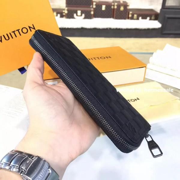 new product 12b3a 3051b Louis Vuitton N63548 Zippy Wallet Vertical Damier Infini Leather