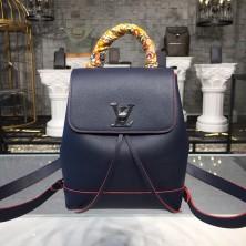 Louis Vuitton M43879 Lockme Backpack Lockme Marine Rouge