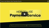 How to Use Western Union Payments Service